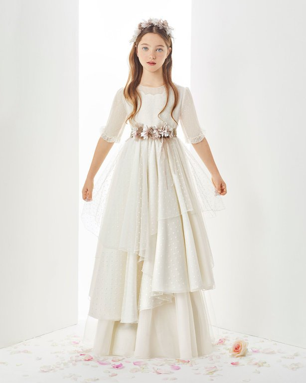 8ed8ce75c Los mejores vestidos de comunión Rosa Clará 2019 - Tendenzias