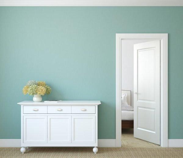 Como decorar un pasillo largo colores de las paredes azul turquesa