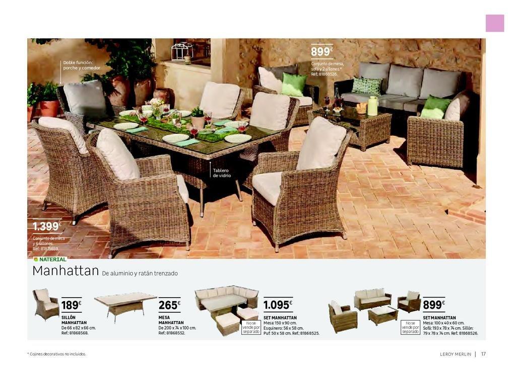 ec0d7b65ce15 Muebles para terraza y jardín de Leroy Merlin 2019 - Tendenzias.com
