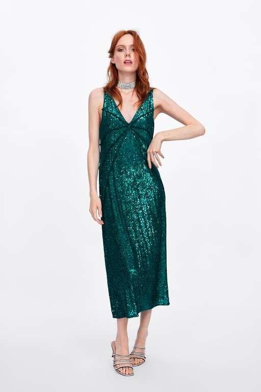 los-vestidos-de-fiesta-zara-verde-lentejuelas