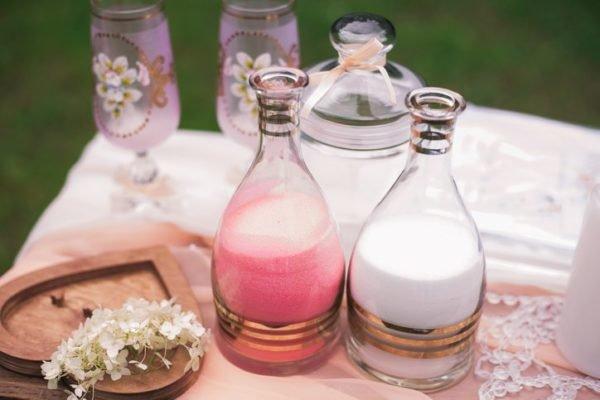 Ceremonia de la arena para boda civil arena colores