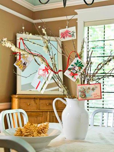 decorar-mesa-en-navidad-jarron-postales-trucosyastucias