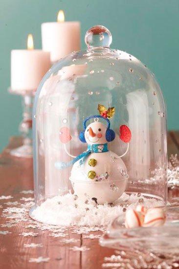 decorar-mesa-en-navidad-muneco-de-nieve-trucosyastucias