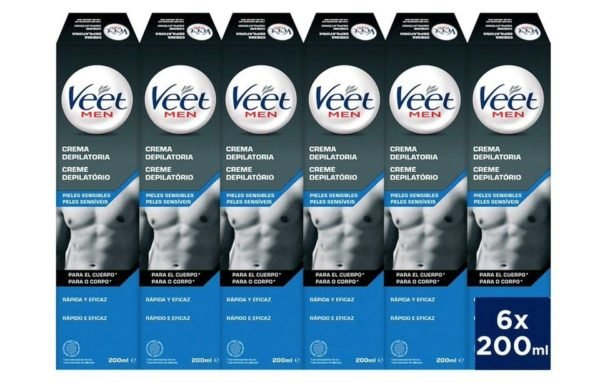 Veet for Men - Crema Depilatoria para hombre para pieles sensibles