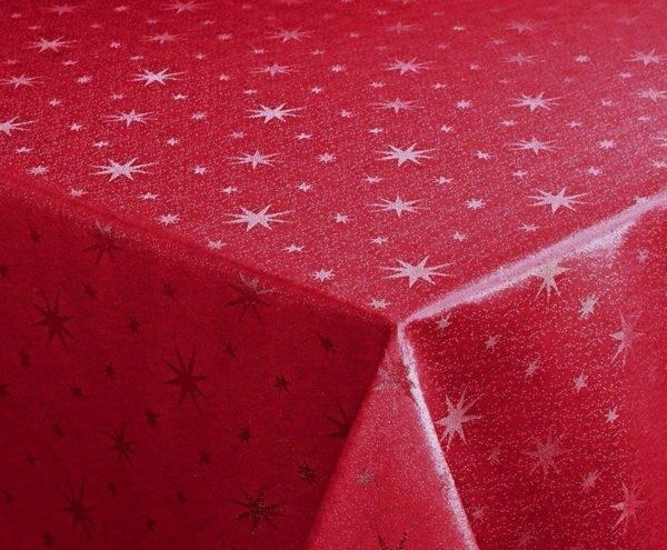 Mantel navideño con estrellas de Lurex