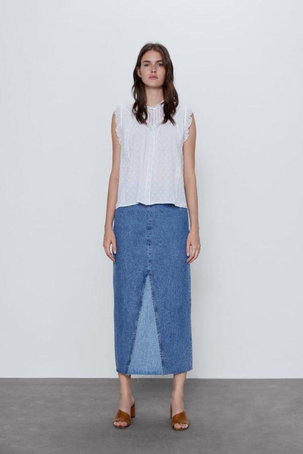 catalogo-zara-mujer-camisa-plumeti