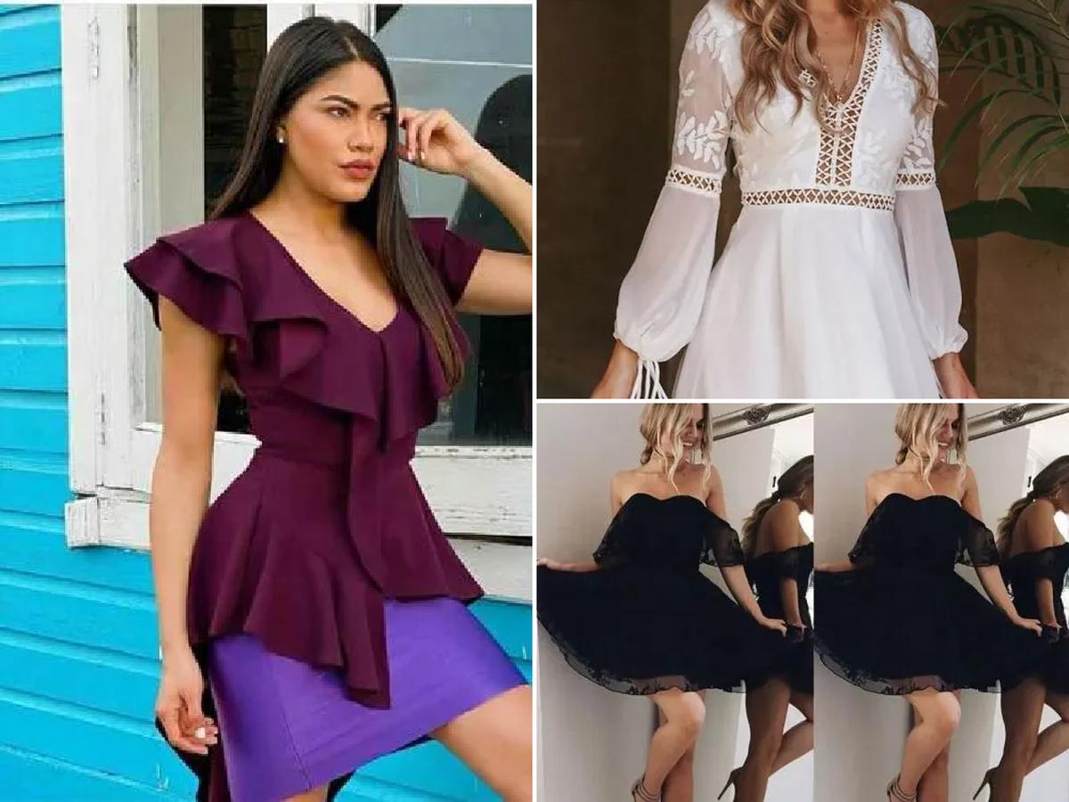 Vestidos De Fiesta de Moda Para Mujer Cortos De Noche Elegantes 2019