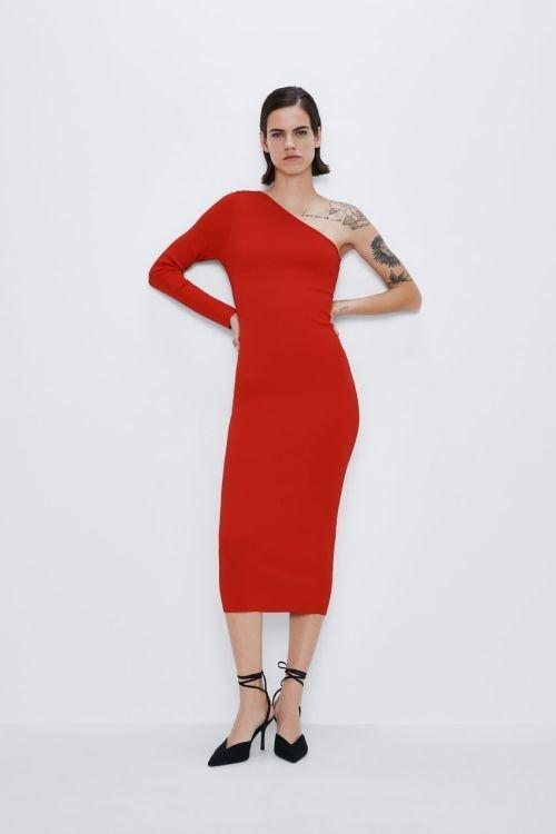 vestidos-de-fiesta-zara-2020-largo-asimetrico-rojo