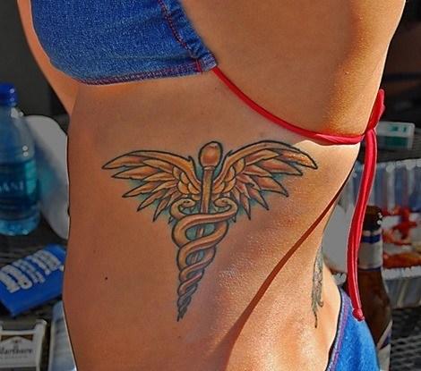 Tatuaje de Caduceo