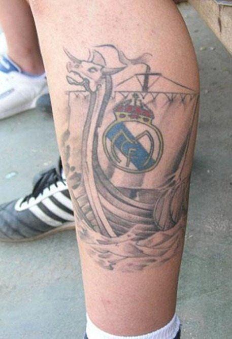 Tatuaje del Real Madrid