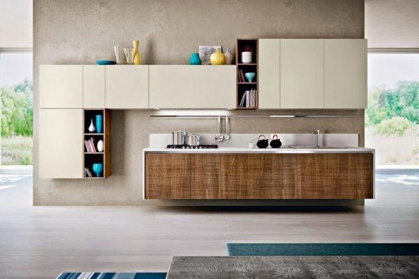 50-ideas-combinar-los-colores-la-cocina-modelo-pedini-cocina-marron-armarios-blancas