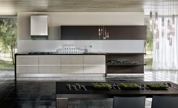 50-ideas-combinar-los-colores-la-cocina-modelo-pedini-color-marron-oscuro-blanco