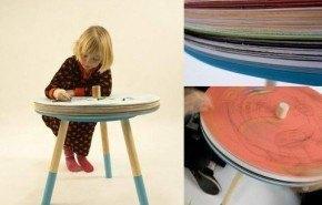 Mesa infantil de dibujo