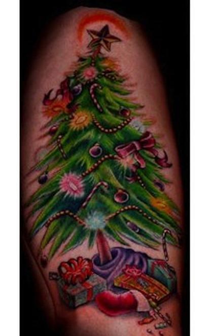 Arbol Navidad tatuaje