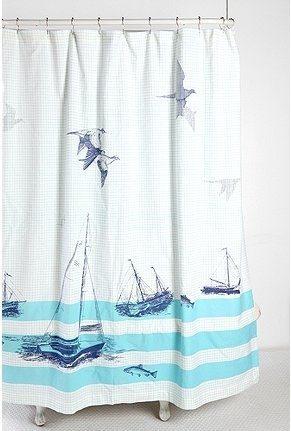 Bathrooms-Shower-Curtains-Nautical