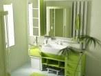 Beautiful-bathroom-Interior-design-with-pretty-Green-Color