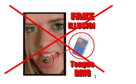 Piercings falsos o magnéticos