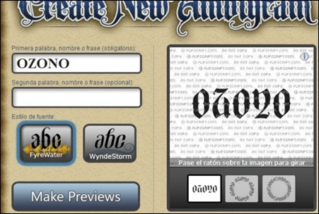 crea tus ambigramas