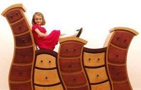 Muebles de cuento para habitaciones infantiles