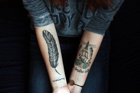 Fotos De Tatuajes De Plumas Ideas Significado Y Diseños