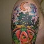 Halloween Arm Tattoo