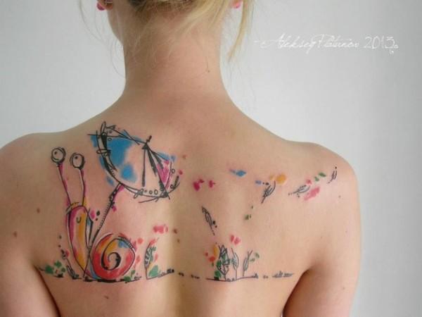 Las Fotos De Tatuajes De Acuarela Para Mujeres Tendenziascom