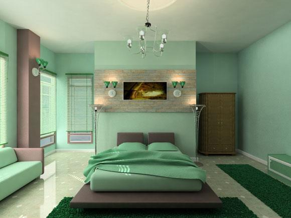 Light-Green-Bedroom-Decorations-Ideas