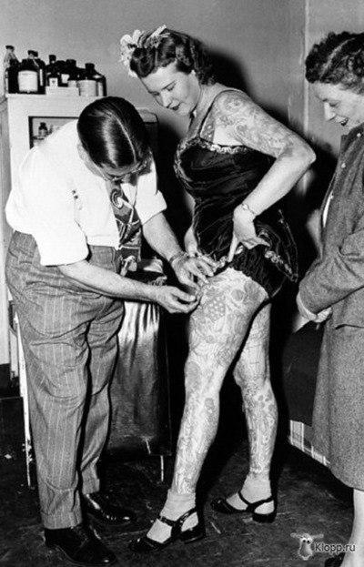 Mujeres tatuadas años 20