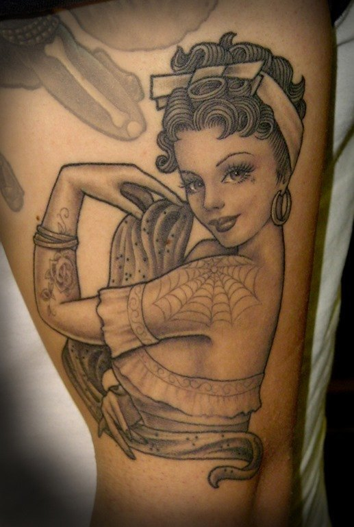 Pin up tatuaje5