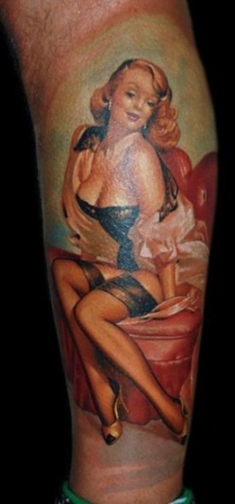 Pin up tatuajes