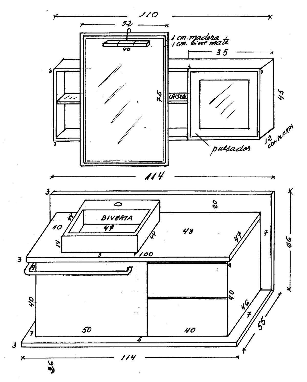 Muebles de bano medidas, descargar o ver foto
