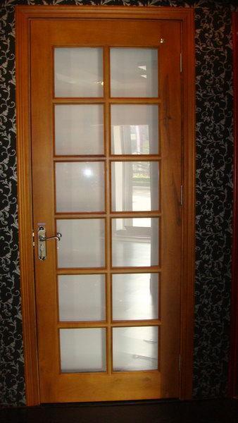 Puerta de interior con cristales for Cristales para puertas de interior