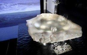 Bañera de cristal de Baldi