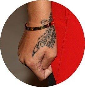 Rihanna's New Tribal Tattoo1