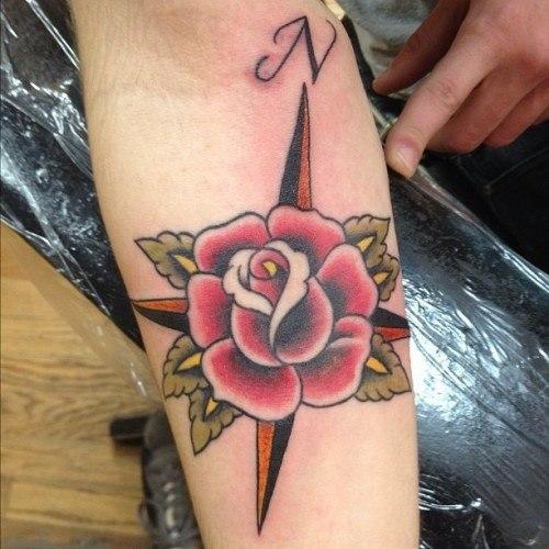 Rosa de los vientos flor
