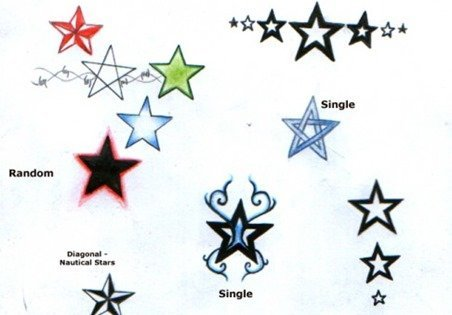 diseños tatuajes estrellas