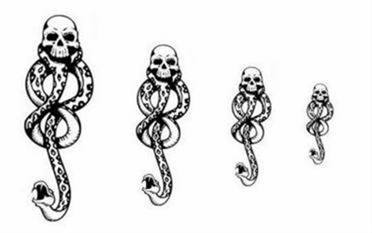 Tatuaje marca tenebrosa Harry Potter