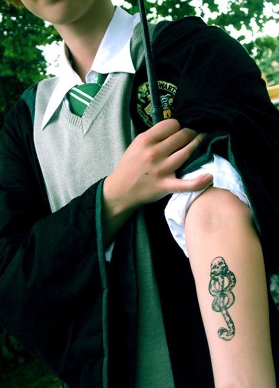 Tatuajes Harry Potter los mortífagos