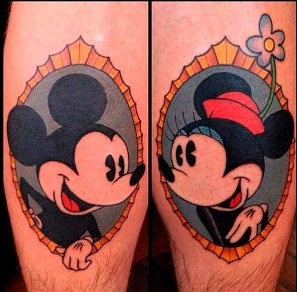Tatuajes de Mickey Mouse y Minnie
