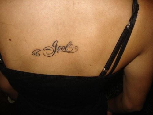 Tatuajes de nombres joel