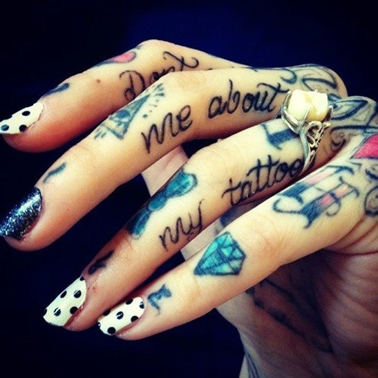 Tatuajes en azul 1