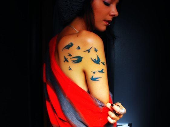 Tatuajes en azul 5