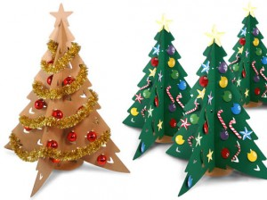 como hacer un rbol de navidad reciclados