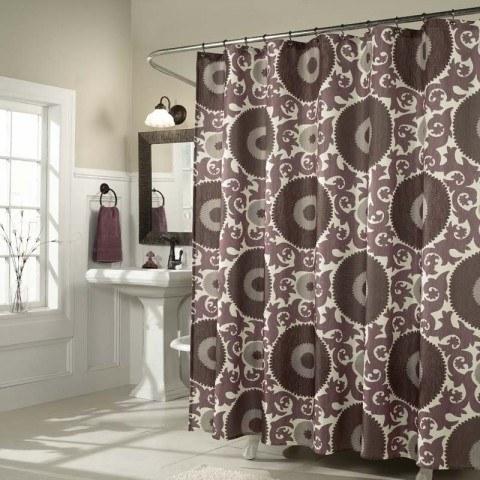 Tendencias para las cortinas de ba o for Cortinas para banos rusticos