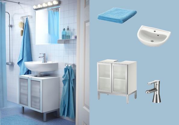 Ba os peque os 2014 ikea azul - Ikea banos pequenos ...