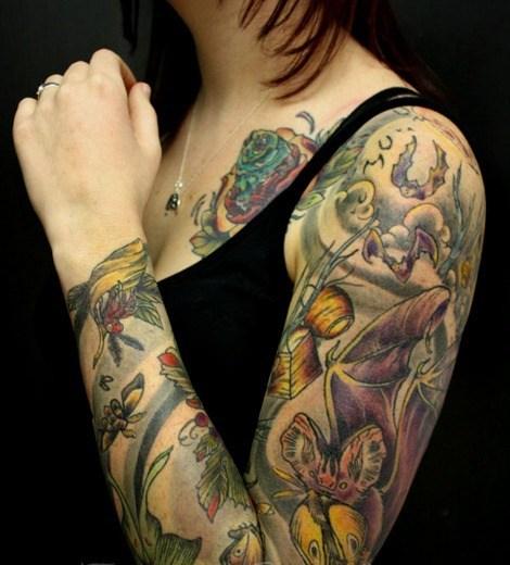 Sleeve tattoos | tatuajes que cubren el brazo