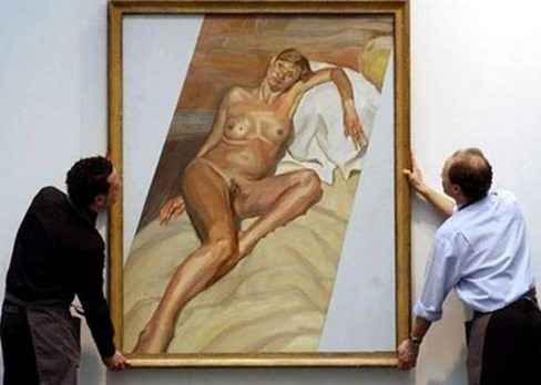 Lucian Freud retrata a Kate Moss