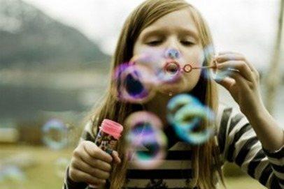 hacer burbujas