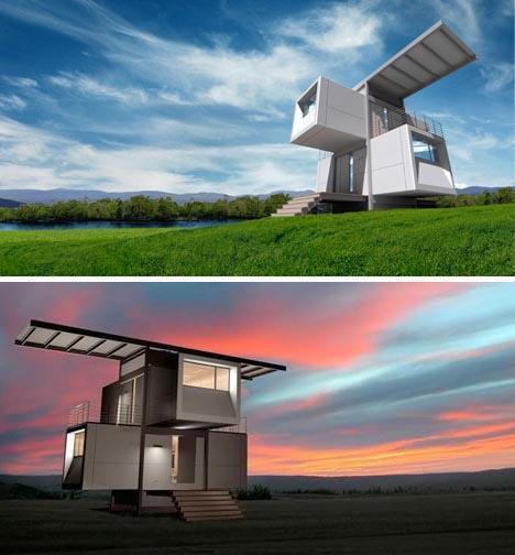 Casas ecológicas y modernas.