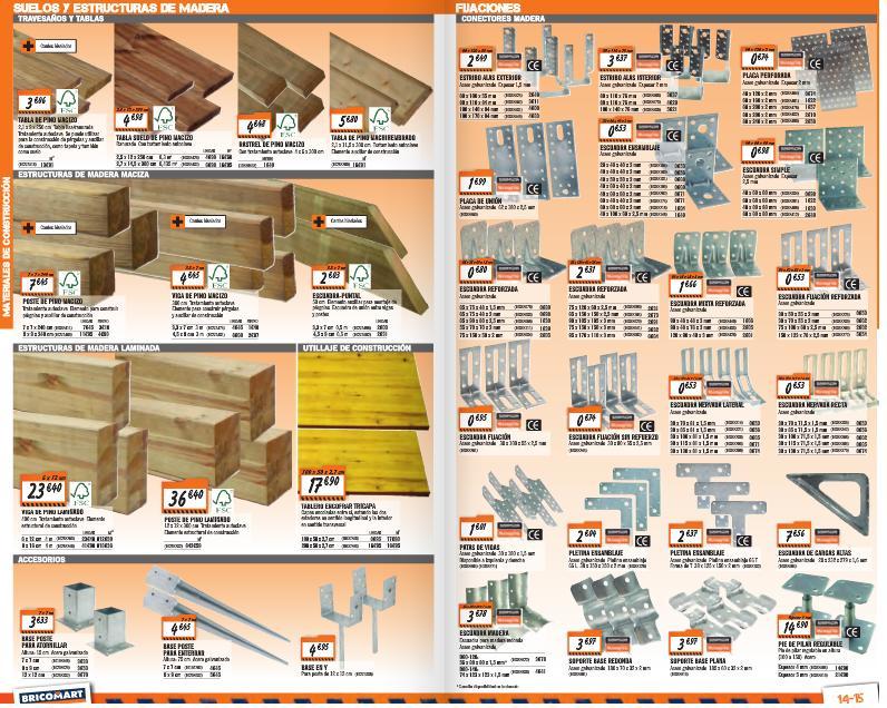 Catalogo bricomart marzo 2015 suelos madera ferreteria for Puertas bricomart